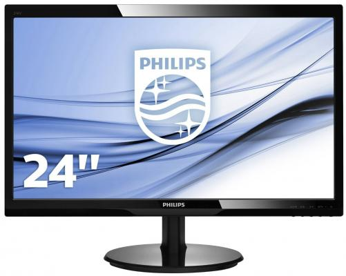Монитор 24 Philips 246V5LSB/00/01 монитор жк philips 246v5lsb 00 01 24 черный