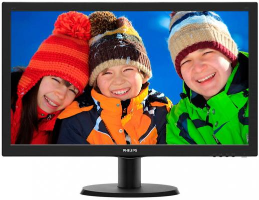 "Монитор 23.6"" Philips 243V5LSB/00/01 монитор philips 243v7qdab 00 01"