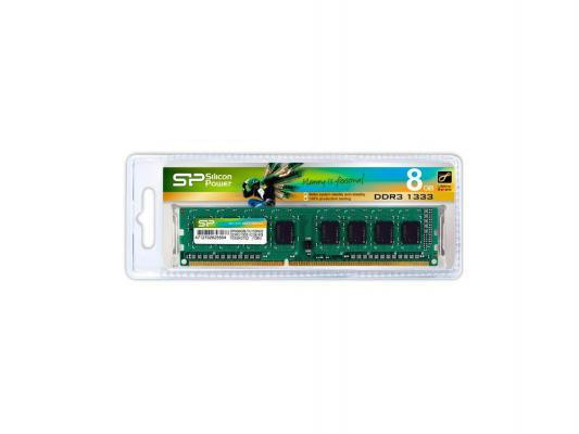 Оперативная память 8Gb PC3-10600 1333MHz DDR3 DIMM Silicon Power CL9 SP008GBLTU133N02 Retail