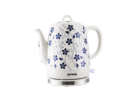 Чайник Gorenje K10C 1630Вт 1л керамика белый
