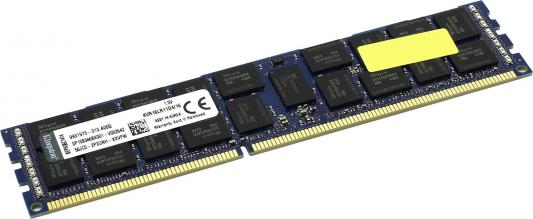 Оперативная память 16Gb (1x16Gb) PC3-12800 1600MHz DDR3 DIMM ECC Buffered CL11 Kingston KVR16LR11D4/16 оперативная память 4gb 1x4gb pc3 12800 1600mhz ddr3 dimm ecc buffered cl11 hp 713981 b21