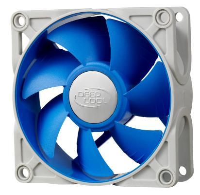 Вентилятор корпусной Deepcool UF 80 80x80x25 4pin 18-23dB 900-2200rpm 111g anti-vibration подставка для ноутбука 15 6 deepcool multi core x8 100x100x15mm usb 23db