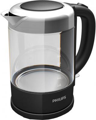 Купить со скидкой Чайник Philips HD 9340/90 2200 Вт 1.5 л металл/стекло чёрный
