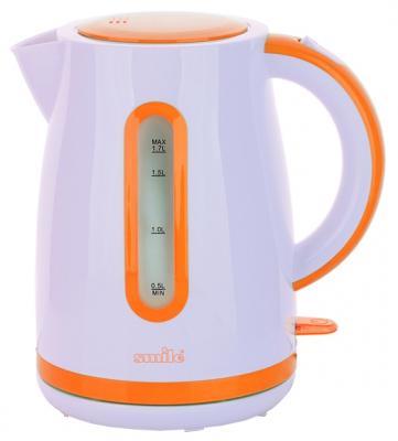 Чайник Smile WK 5124 2000 Вт белый оранжевый 1.7 л пластик