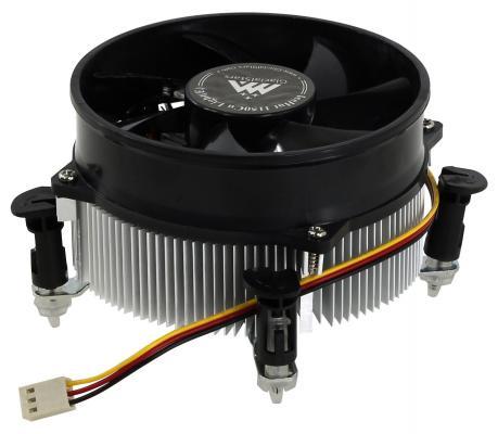 Кулер для процессора GlacialTech IceHut 1150 CU Light(E) Socket 1150/1155/1156 3pin 25dB Al+Cu 95W 440g клипсы OEM кулер для процессора ice hammer ih 4401a socket am2 939 754 775 al cu тепловые трубки