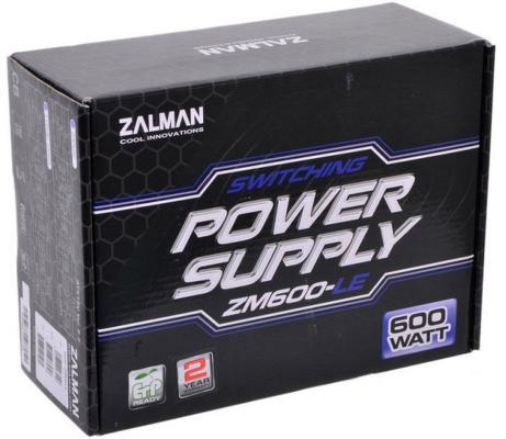 БП ATX 600 Вт Zalman ZM600-LE