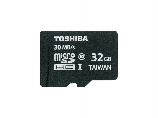 Карта памяти Micro SDHC 32Gb Class 10 Toshiba SD-C032UHS1 6/A + адаптер SD