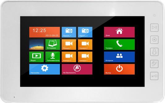 Комплект видеодомофона Falcon FE-70w цветной, сенсорный, 7 дюймов интерфейс Windows 8 Возможности подключения 2 вызывных панели, 4 камеры, до 4 монито