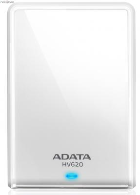 """Внешний жесткий диск A-Data 1Tb AHV620-1TU3-CWH White <2.5"""", USB3.0>"""