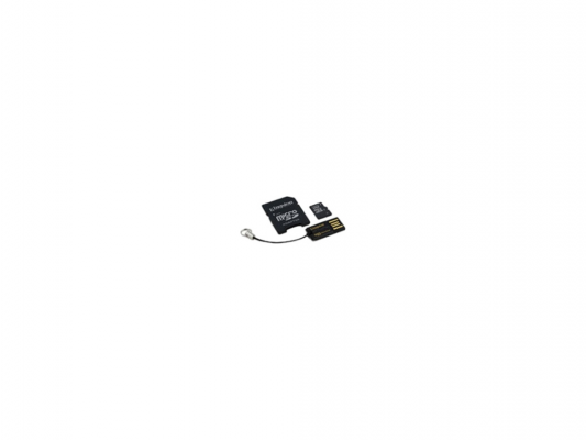 Карта памяти Micro SDHC 16GB Class 10 Kingston Multi Kit MBLY10G2/16GB + адаптер SD + USB-картридер kingston sdhc 16 gb class 10 sd 10 g3 16 gb