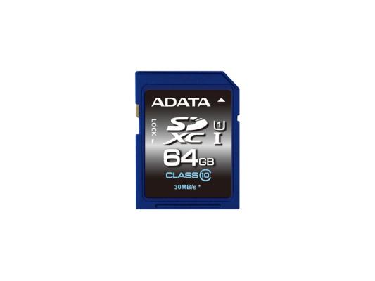 Карта памяти SDXC 64Gb Class 10 A-Data ASDX64GUICL10-R