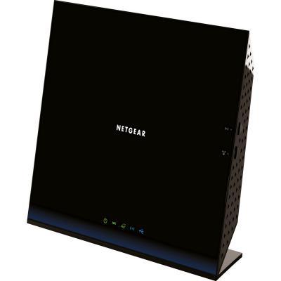 Маршрутизатор NetGear D6200-100PES 802.11acbgn 867Mbps 2.4 ГГц 5 ГГц 4xLAN USB USB черный беспроводной маршрутизатор netgear r6800 100pes 802 11aс 1900mbps 5 ггц 2 4 ггц 4xlan usb черный
