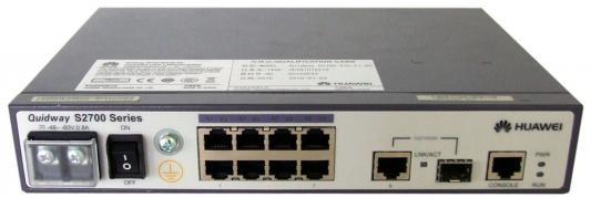 Коммутатор Huawei (S2700-9TP-PWR-EI) 9-портов 10/100BASE-T PoE and AC 110/220V коммутатор huawei s2750 28tp pwr ei ac