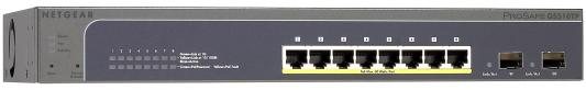Коммутатор Netgear (GS510TP-100EUS) Управляемый Smart, 8GE/PoE+ 130W 2SFP портов Green