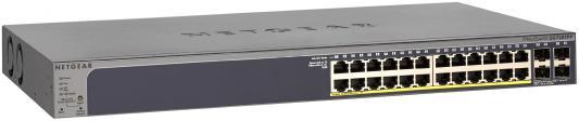 Коммутатор Netgear (GS728TPP-100EUS) на 24GE+4SFP c статической маршрут.IPv6. PoE бюджет до 384 Вт