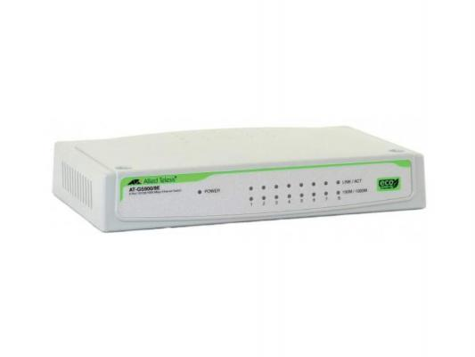Коммутатор Allied Telesis (AT-GS900/8E) 8 port 10/100/1000TX unmanged with external power supply