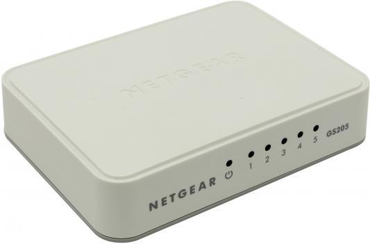 Коммутатор Netgear (GS205-100PES) 5-портовый 10/100/1000Мбит/с, неуправляемый