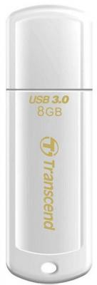Флешка USB 8Gb Transcend Jetflash 730 TS8GJF730 USB 3.0 белый usb флешка transcend jetflash 360 8gb