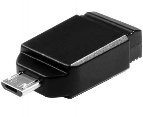 Флешка USB 8Gb Verbatim Store 'n' Go NANO 49820 USB2.0 with Micro USB Adapter черный 1pcs right angle 90 degree usb 2 0 a male female adapter connecter for lap pc wholesale drop shipping