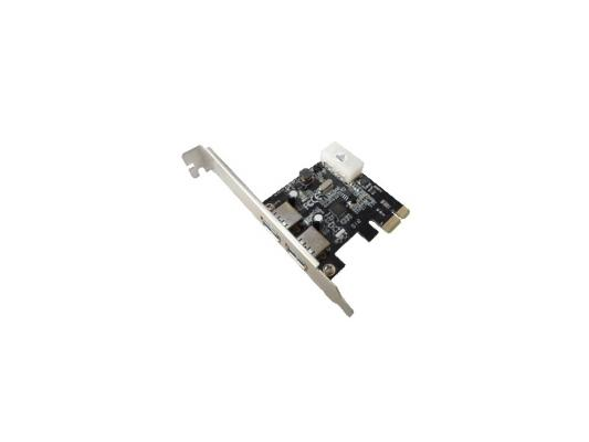 Контроллер ORIENT VL-3U2PE PCIe to 2 port USB 3.0, дополнительный разъём питания, VIA VL806, oem