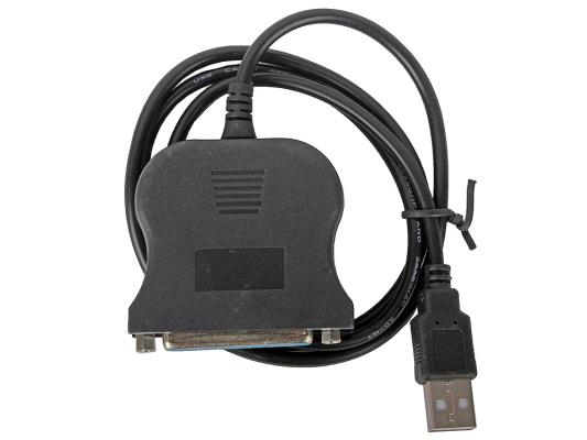 Кабель-адаптер Orient ULB-225, USB AM to LPT DB25F (порт), кабель 0.85м, крепление гайки кабель