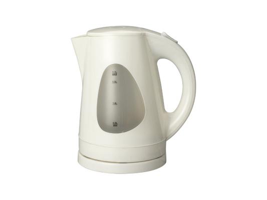 Чайник Supra KES-1708 2200Вт 1.7л пластик белый электрический чайник supra kes 1708 черный вишневый kes 1708 черный вишневый