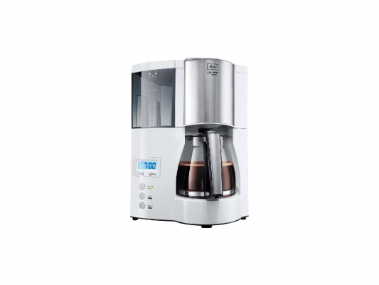 Кофеварка Melitta Optima Glass Timer белый 20323 кофеварка капельная melitta optima timer 850вт черный