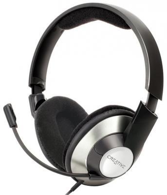 Проводная гарнитура Creative HS-620 Black-Silver (51EF0390AA002) genius hs 300a silver