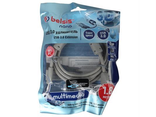 Кабель Belsis USB3.0 А вилка-USB А розетка с ф/фильтрами, длина 1.8 м. BW1406