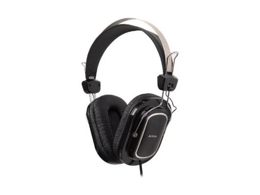 Гарнитура A4Tech HS-200 3.5мм черный a4tech hs 60 в интернет магазине