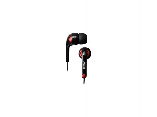 Наушники BBK EP-1250S вкладыши черно-красный