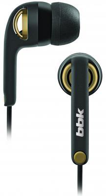 Наушники BBK EP-1250S вкладыши черно-желтый цена и фото