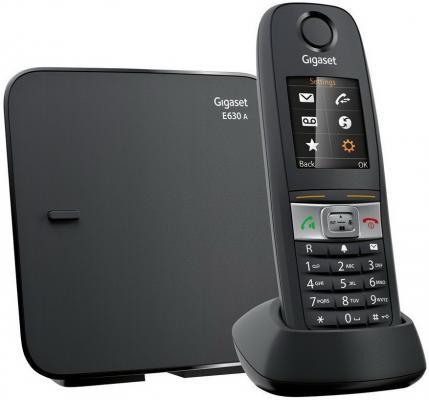 Р/Телефон Dect Gigaset E630A черный автооветчик IP65 (пылевлагозащищенный, ударопрочный) ip телефон gigaset a540 ip