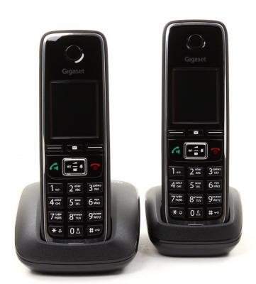 Фото Р/Телефон Dect Gigaset C530 DUO черный 2 трубки телефон dect gigaset l410 устройство громкой связи
