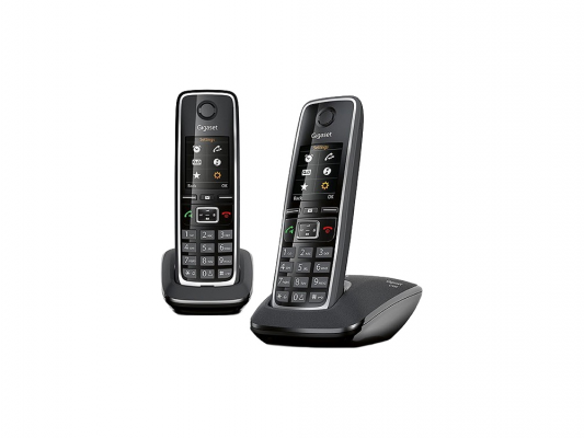Р/Телефон Dect Gigaset C530 DUO черный 2 трубки р телефон dect gigaset c530 черный
