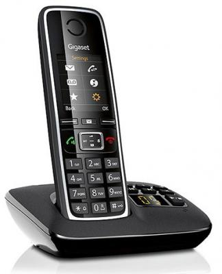 Р/Телефон Dect Gigaset C530 A черный автооветчик телефон dect yealink w52h dect дополнительная sip трубка