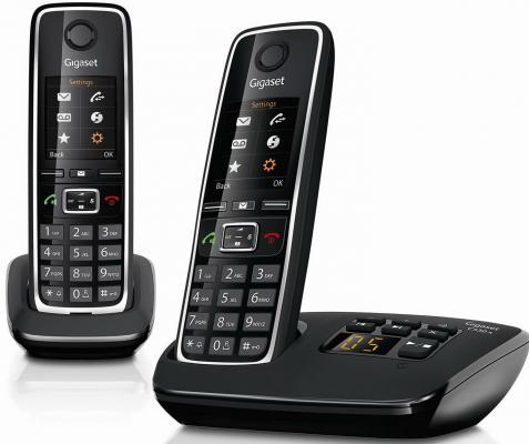Р/Телефон Dect Gigaset C530 AM DUO черный 2 трубки автооветчик телефон dect yealink w52h dect дополнительная sip трубка