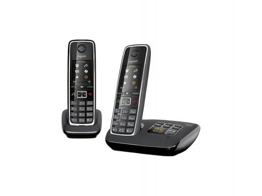 Р/Телефон Dect Gigaset C530 AM DUO черный 2 трубки автооветчик р телефон dect gigaset c530 черный