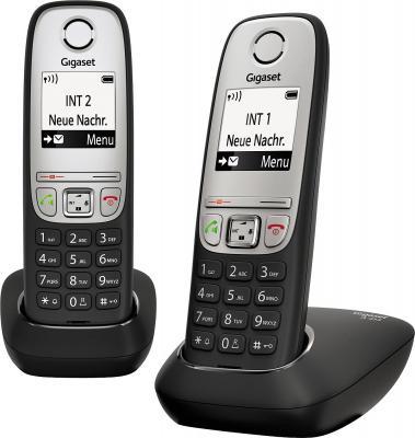 Р/Телефон Dect Gigaset A415 DUO черный 2 трубки проводной и dect телефон gigaset e350 1 1 e350