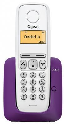 Р/Телефон Dect Gigaset A230 PURPLE белый/фиолетовый