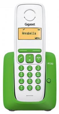 Р/Телефон Dect Gigaset A130 GREEN белый/зеленый
