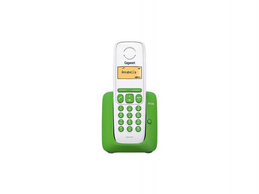 Купить Р/Телефон Dect Gigaset A130 GREEN белый/зеленый