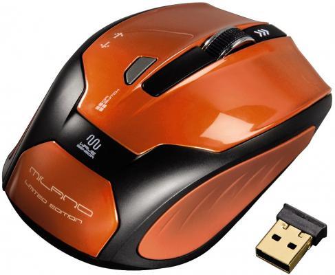 Мышь HAMA Milano H-52390 оранжевый USB