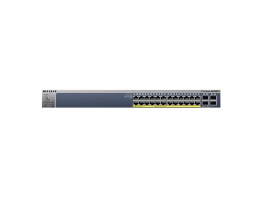 Коммутатор NETGEAR GS728TP-100EUS управляемый 24 порта 10/100/1000Mbps 4xGbLAN PoE