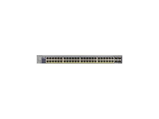 Коммутатор NETGEAR GS752TP-100EUS управляемый 48 портов 10/100/1000Mbps 4xGbLAN PoE+