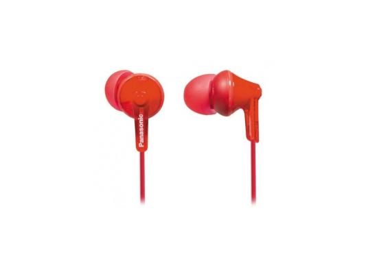 Наушники-затычки Panasonic RP-HJE125E-R красный наушники panasonic rp hje125e w вкладыши белый проводные
