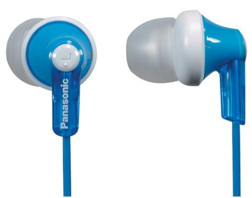 Наушники-затычки Panasonic RP-HJE118GUA голубой наушники panasonic rp hje118gua вкладыши белый голубой проводные