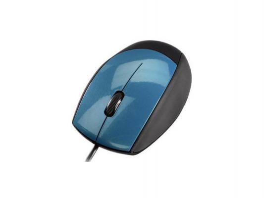 Мышь проводная Hama H-52384 M360 USB черно-голубой