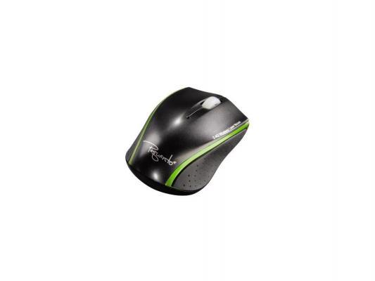 Мышь Hama H-53874 Pequento лазерная беспроводная черный/зеленый