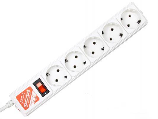 Сетевой фильтр Power Cube SPG-B6 белый 5 розеток 1.9 м